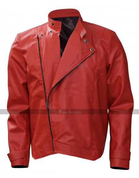 Wrestler Shinsuke Nakamura Red Leather Jacket Pants