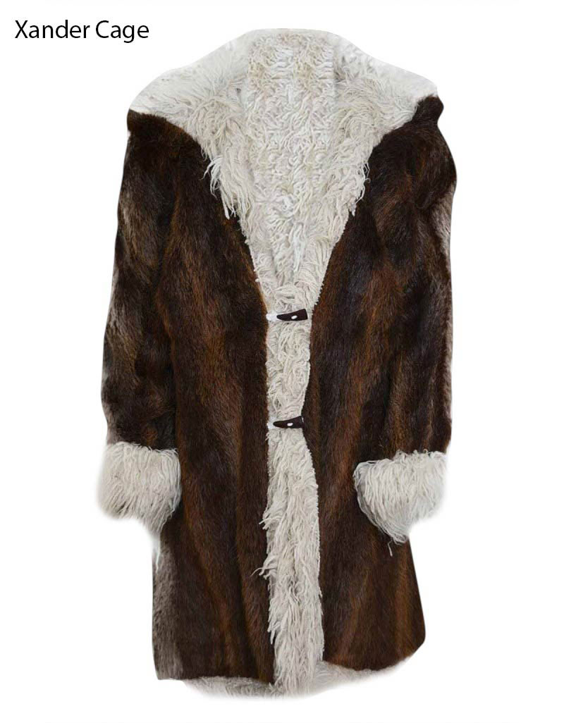 cc3a2620 XXX 3 The Return of Xander Cage Vin Diesel Brown Fur Coat
