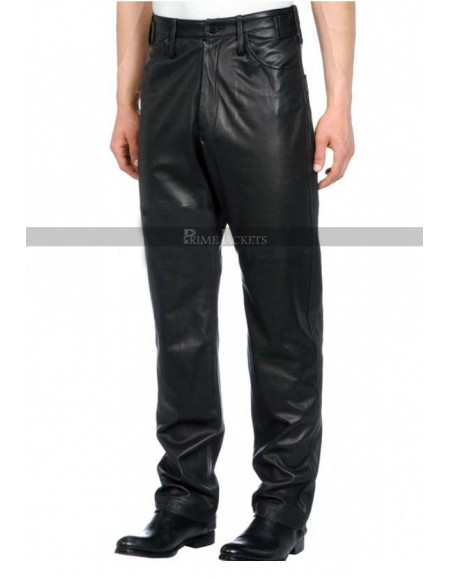 Designers Loose Fit Leather Pants