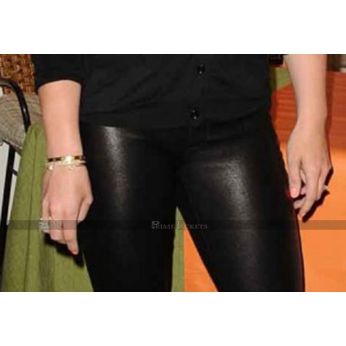 Hilary Duff Leather Pants For Women