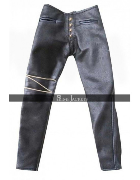 Eric Draven The Crow Black Leather Pants