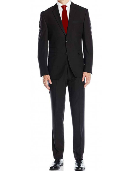 Agent 47 Hitman Rupert Friend Black Two Piece Suit