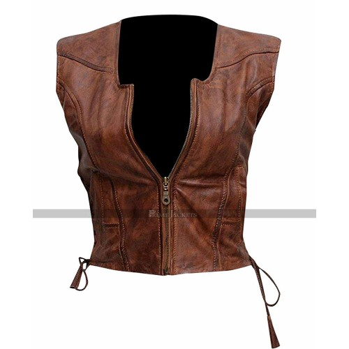 Walking Dead Michonne Brown Vest