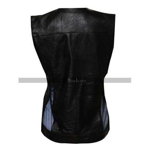 Zoe Saldana Guardians of the Galaxy 2 Gamora Leather Vest