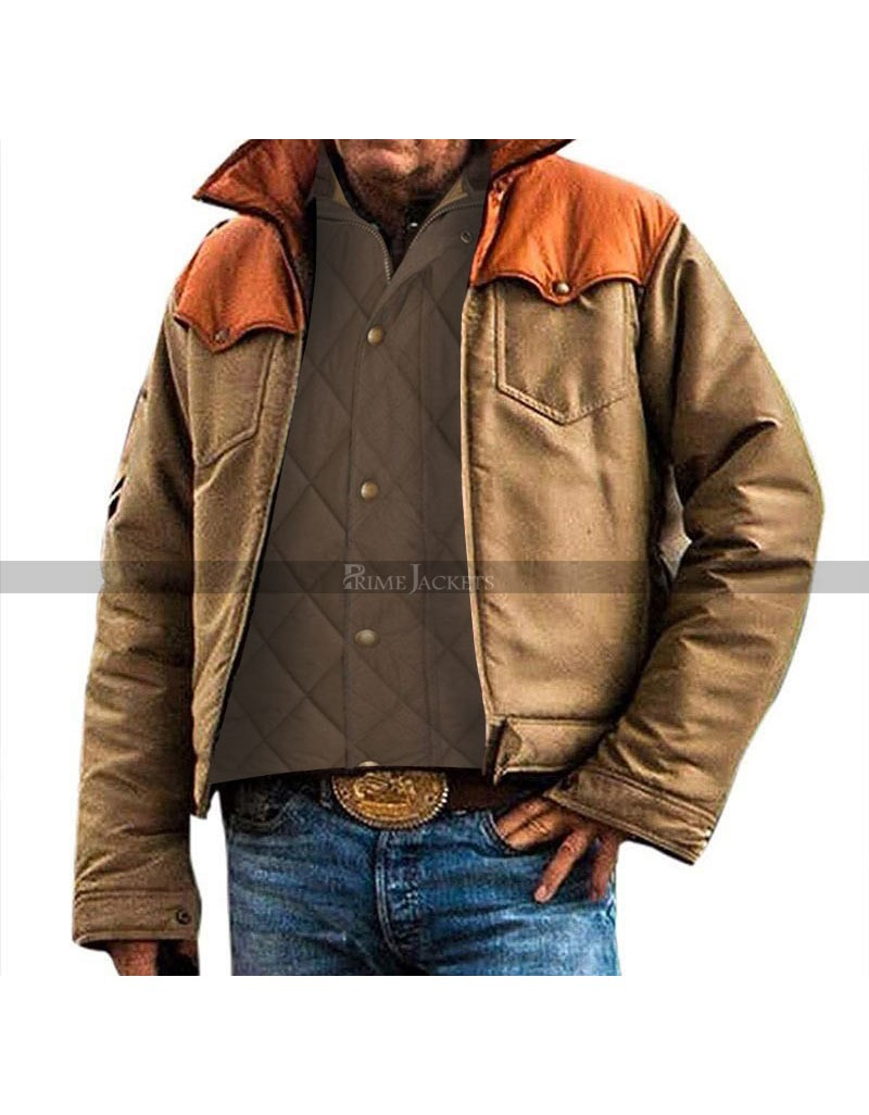 John Dutton Yellowstone Kevin Costner Quilted Vest