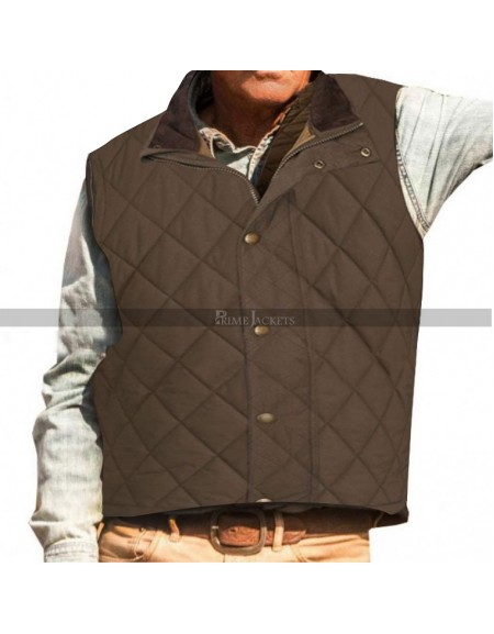 Yellowstone Kevin Costner Quilted Vest