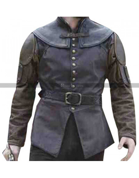Joshua Sasse Galavant Brown Leather Vest