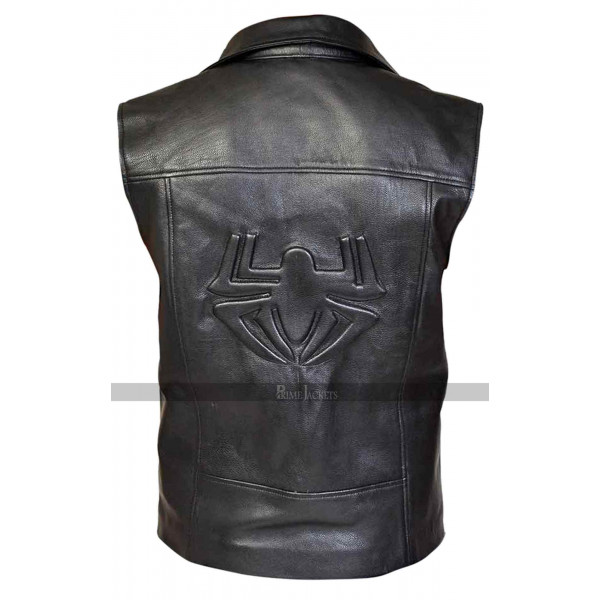 Spider Man Noir Black Leather Vest