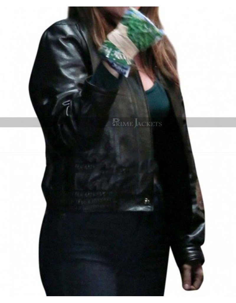Ally A Star Is Born Black Biker Leather Jacket