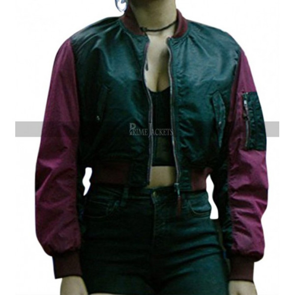 Zazie Beetz Deadpool 2 Domino Bomber Jacket
