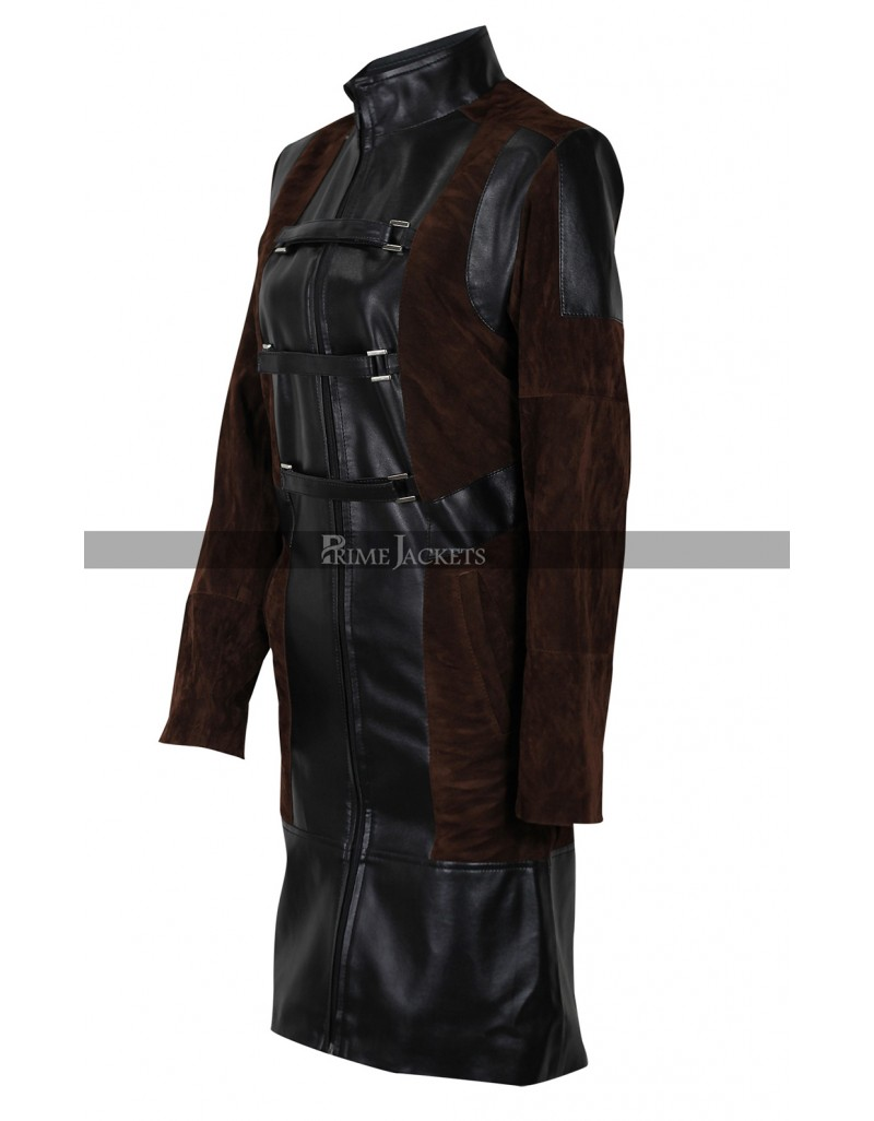 Guardians of the Galaxy Vol 2 Gamora Leather Coat Costume