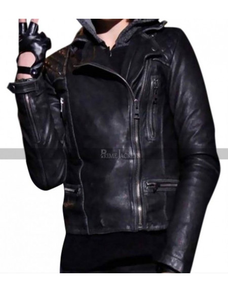 Camren Bicondova Selina Kyle Gotham Biker Leather Jacket