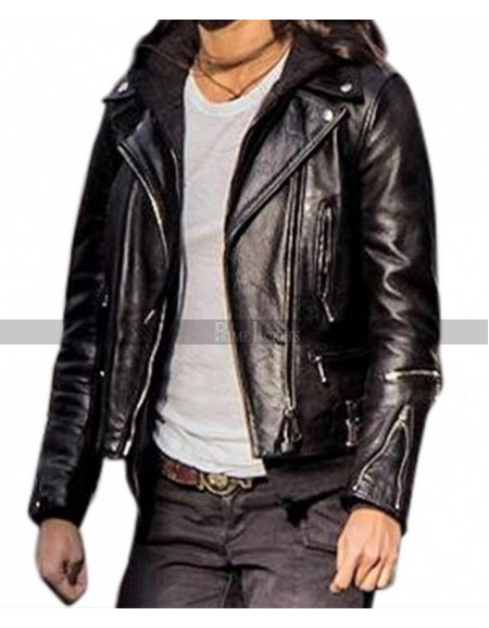 Tomb Raider's Lara Croft (Alicia Vikander) Motorcycle Leather Jacket