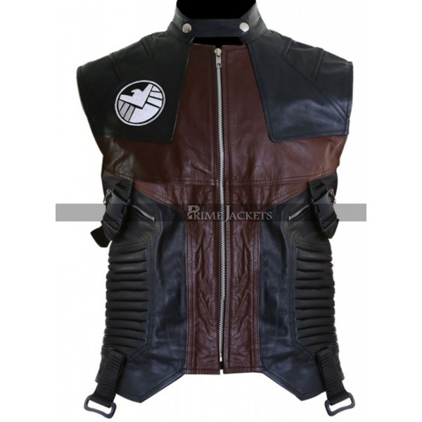 Avengers Age Of Ultron Hawkeye Womens Leather Vest