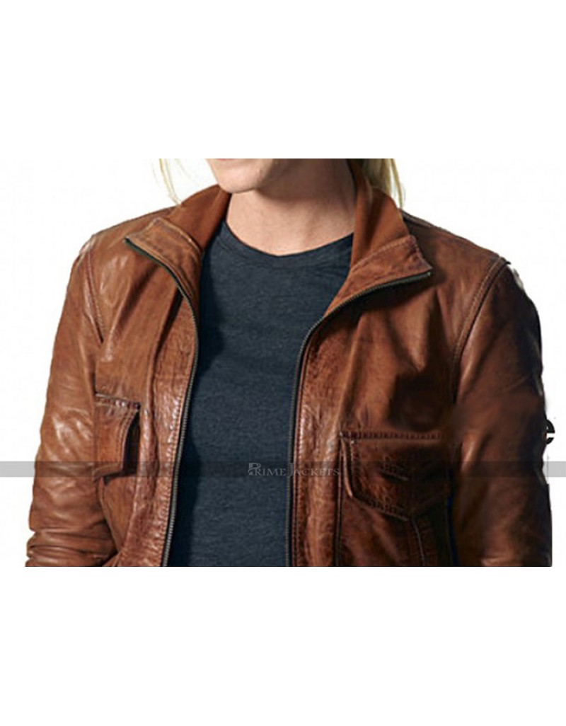 Annie Frost Chase Biker Leather Jacket