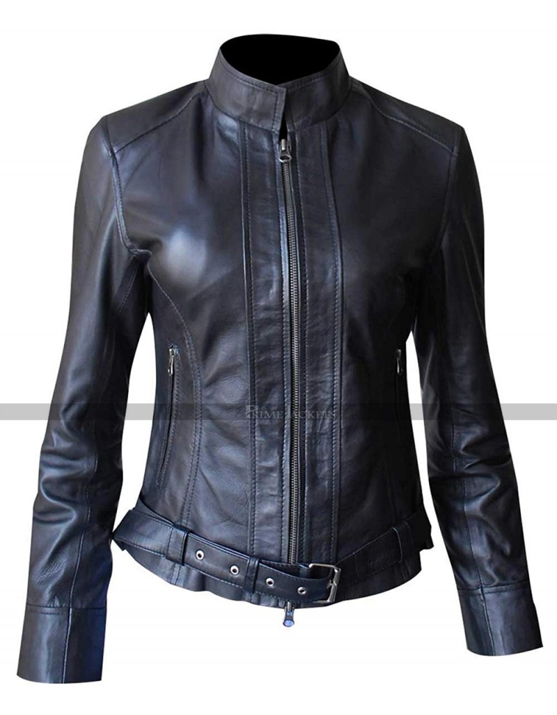 sons of anarchy reaper leather womens jacket. Black Bedroom Furniture Sets. Home Design Ideas