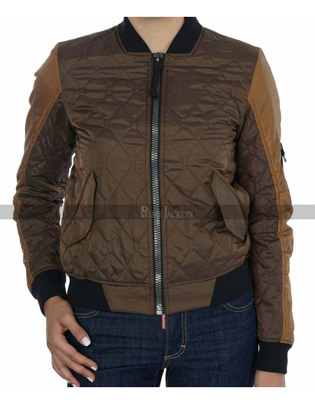 Elizabeth Henstridge Agents of Shield Bomber Jacket