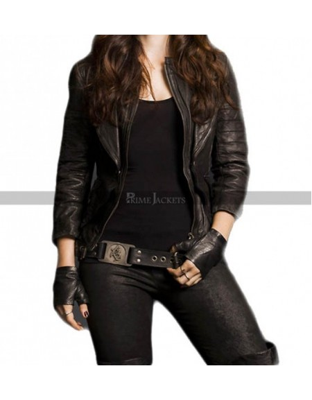 Shadowhunters Katherine McNamara Biker Leather Jacket