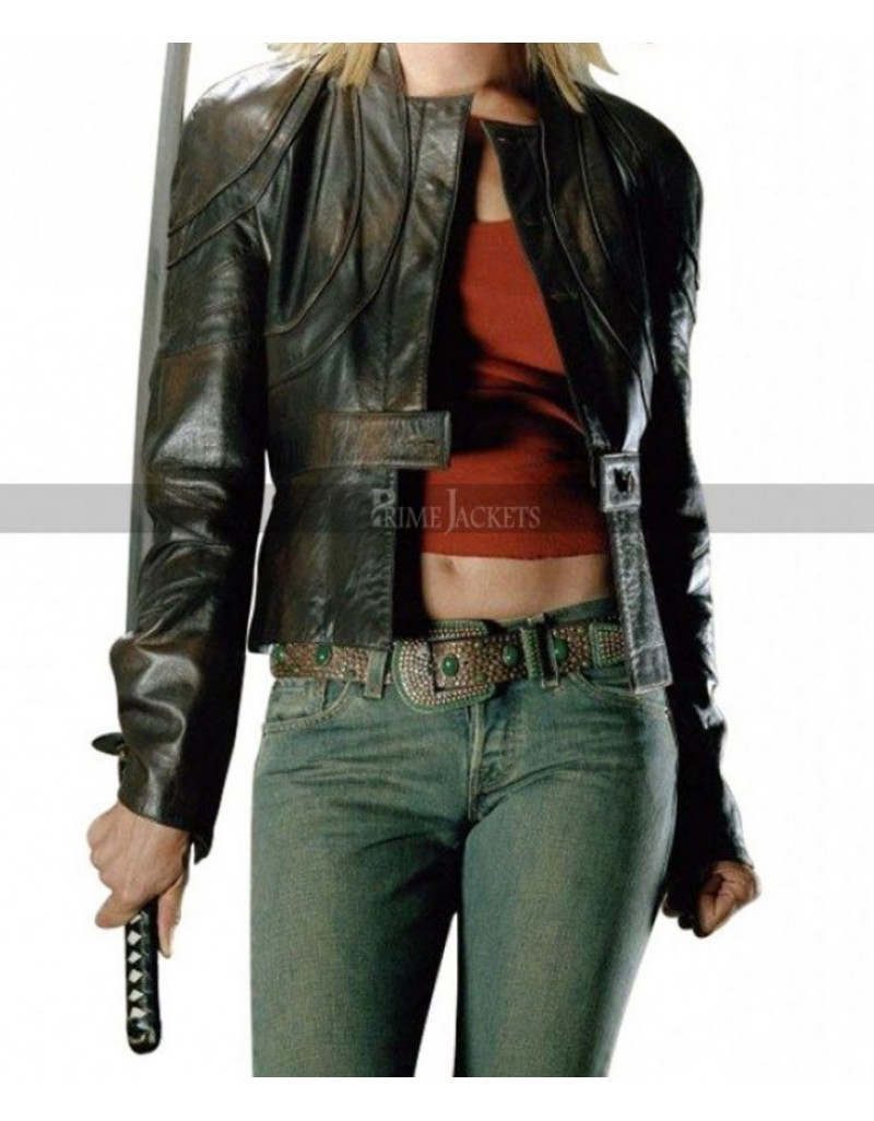 Kill Bill Volume 2 Uma Thurman (The Bride) Black Leather Jacket