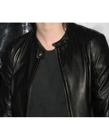 Kristen Stewart Designer Black Leather Jacket