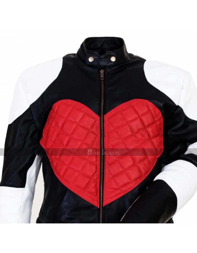 Kylie Minogue Red Heart Timebomb White Motorcycle Jccket