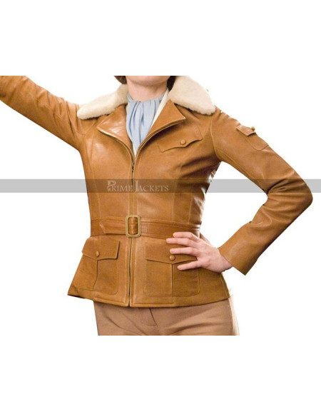 Night at the Museum 2 Amelia Earhart (Amy Adams) Brown Jacket