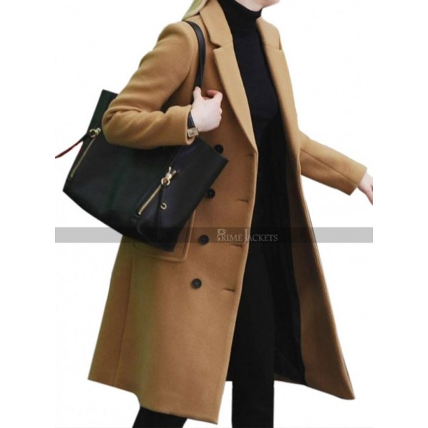 Jennifer Lawrence Red Sparrow Movie Brown Trench Coat