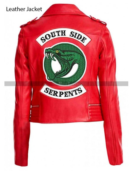 Cheryl Blossom River dale Red/Black Leather Jacket