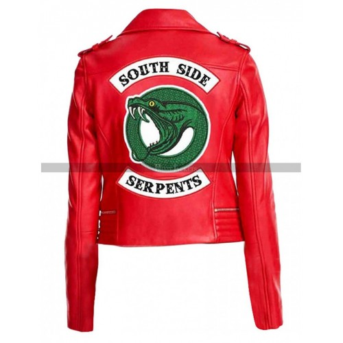 River dale Cheryl Blossom Leather Trouser Jacket