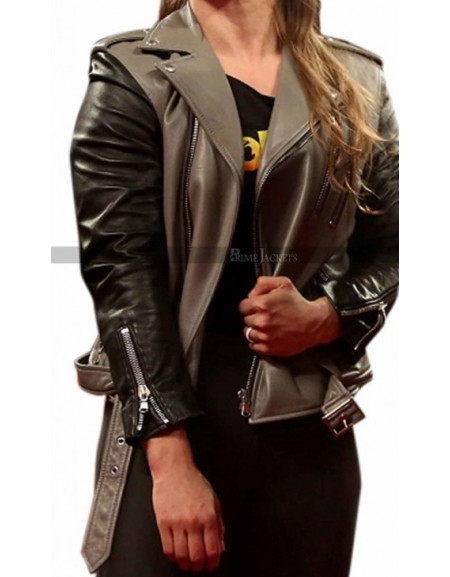Ronda Rousey Stylish Biker Jacket