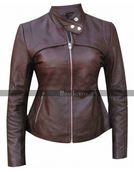 San Andreas (Blake) Alexandra Daddario Biker Leather Jacket
