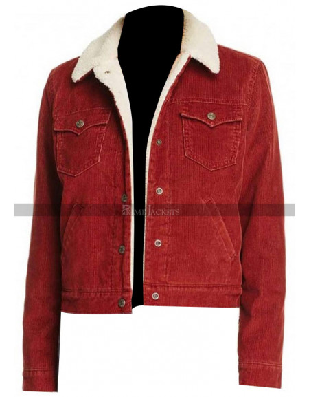 Stranger Things Nancy Wheeler Red Denim Fur Jacket