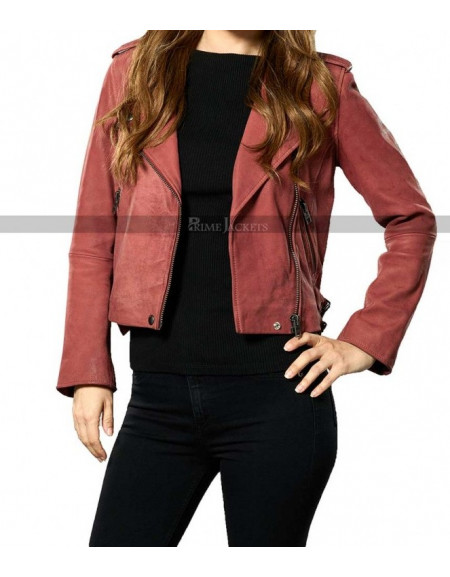 Take Two Rachel Bilson Red Leather Jacket