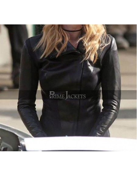Yael Grobglas Slim Fit Black Motorcycle Leather Jacket