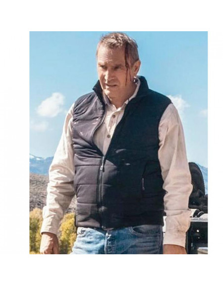 Yellowstone John Dutton Black Quilted Vest