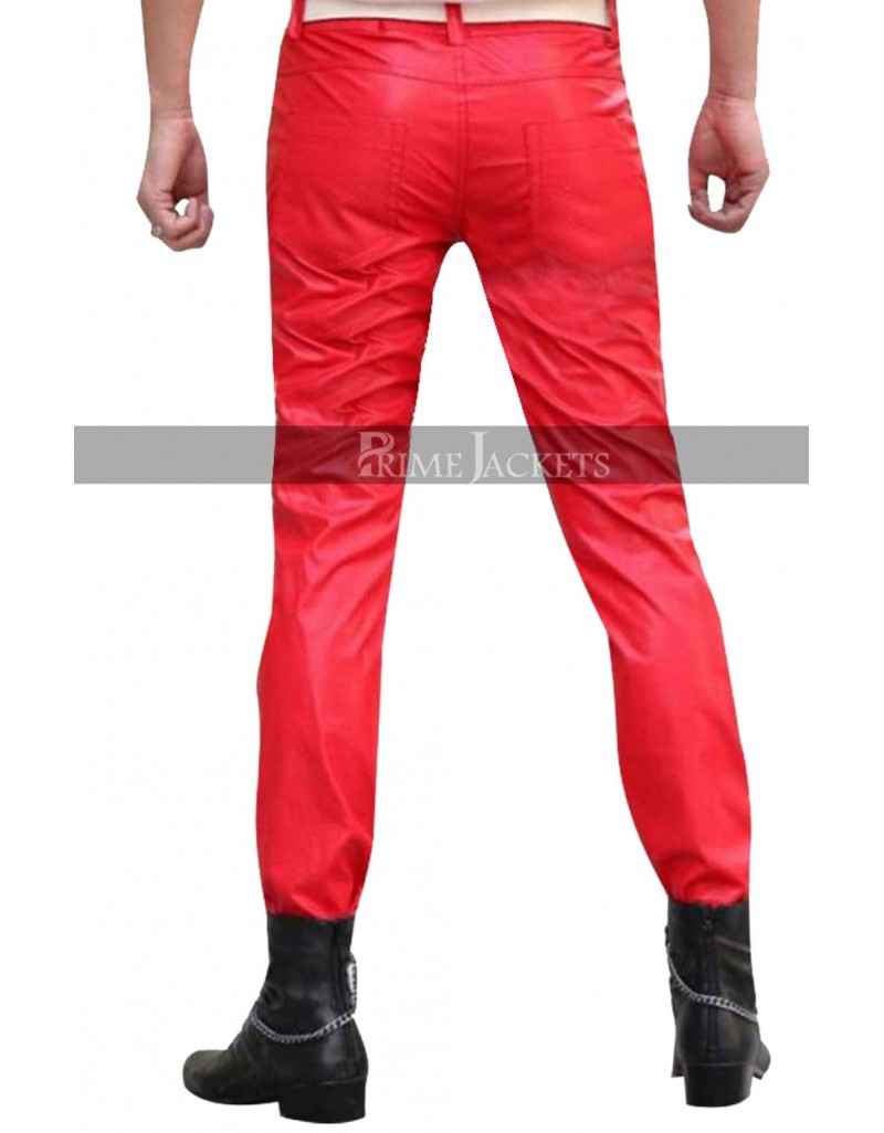 Men S Red Leather Pants